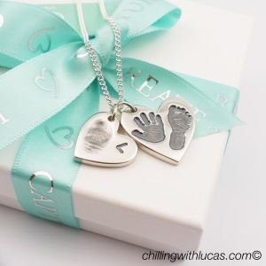 Duo of hearts necklace